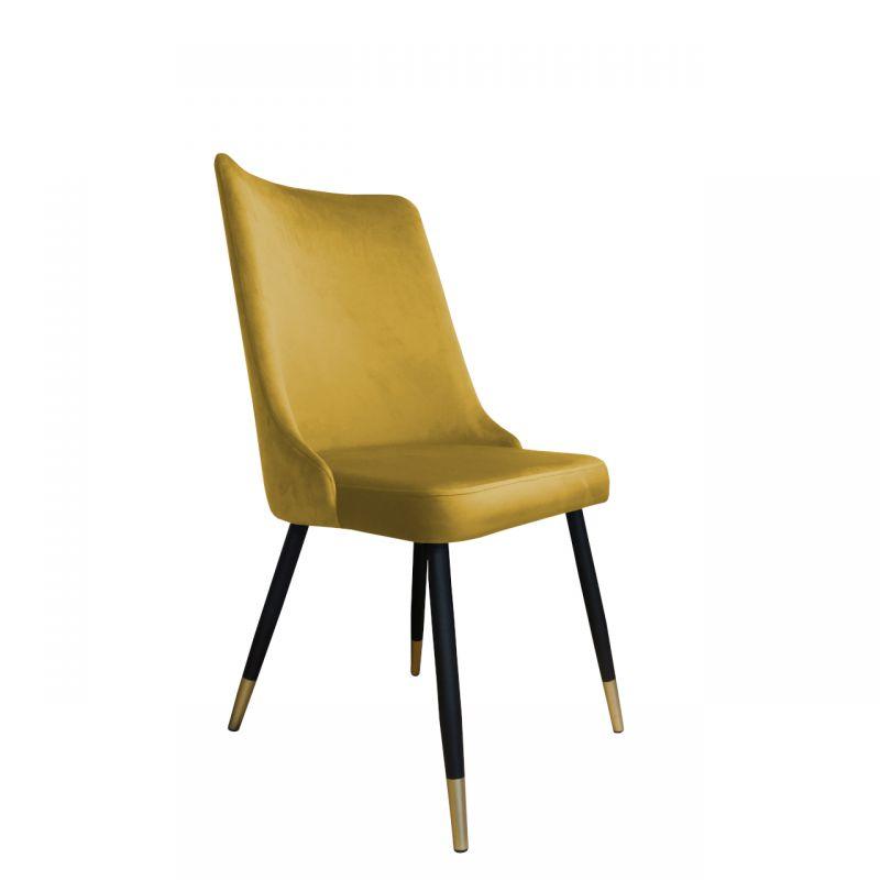 Stylowe krzesło do jadalni miodowy kolor