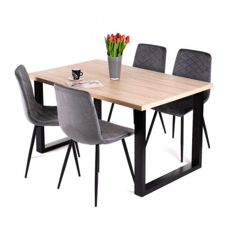 Duży stół industrialny rozkładany 90x160-260 cm