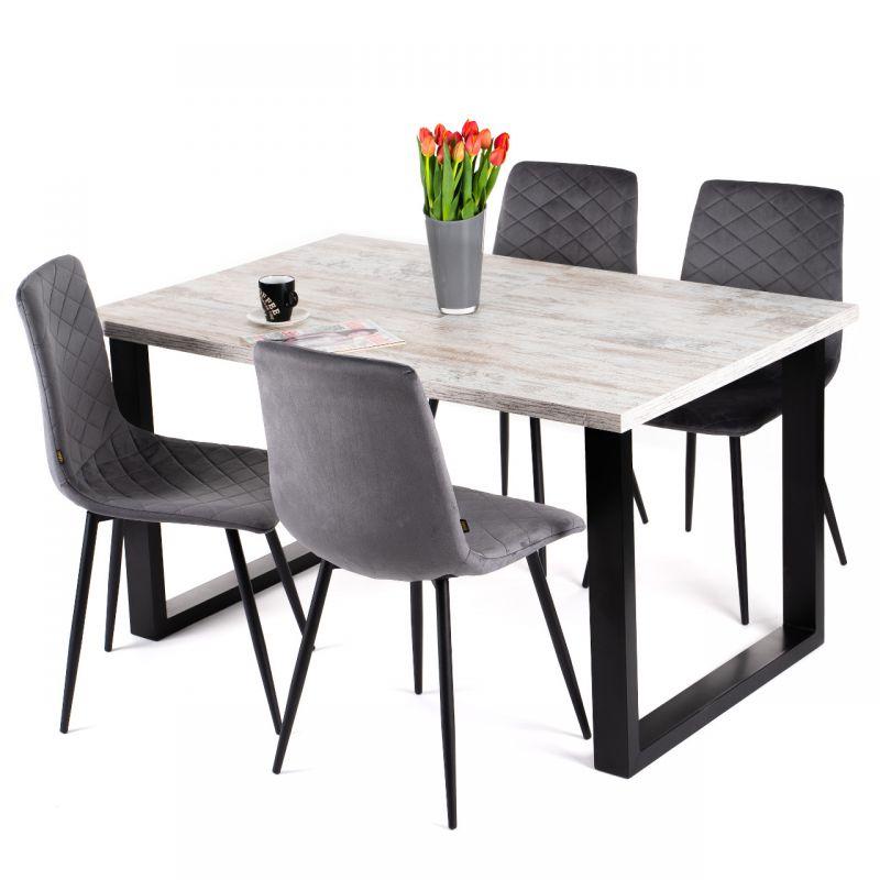 Stół rustykalny rozkładany 90x160-260 cm