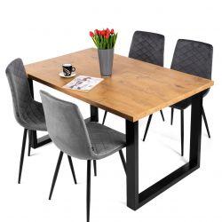 Stół industrialny loft rozkładany 90x160-260 cm