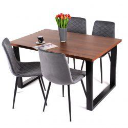 Stół do jadalni industrialny rozkładany 90 cm