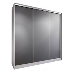 Szaro-czarna szafa sypialniana 200 cm