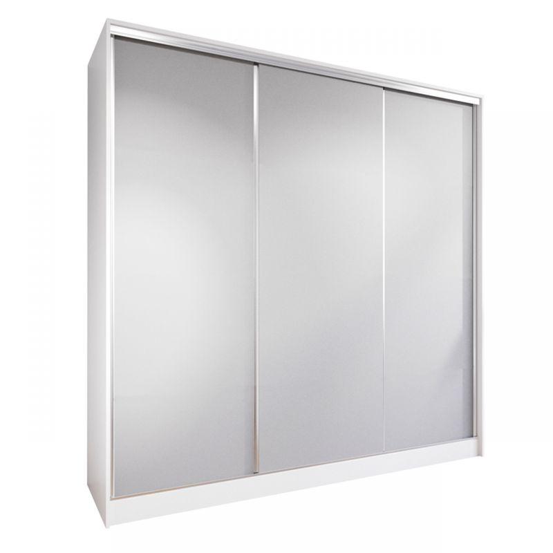 Biało-szara szafa 200 cm drzwi przesuwne