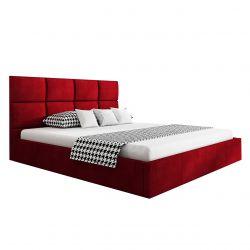 Łóżko małżeńskie 180x200 czerwony velvet