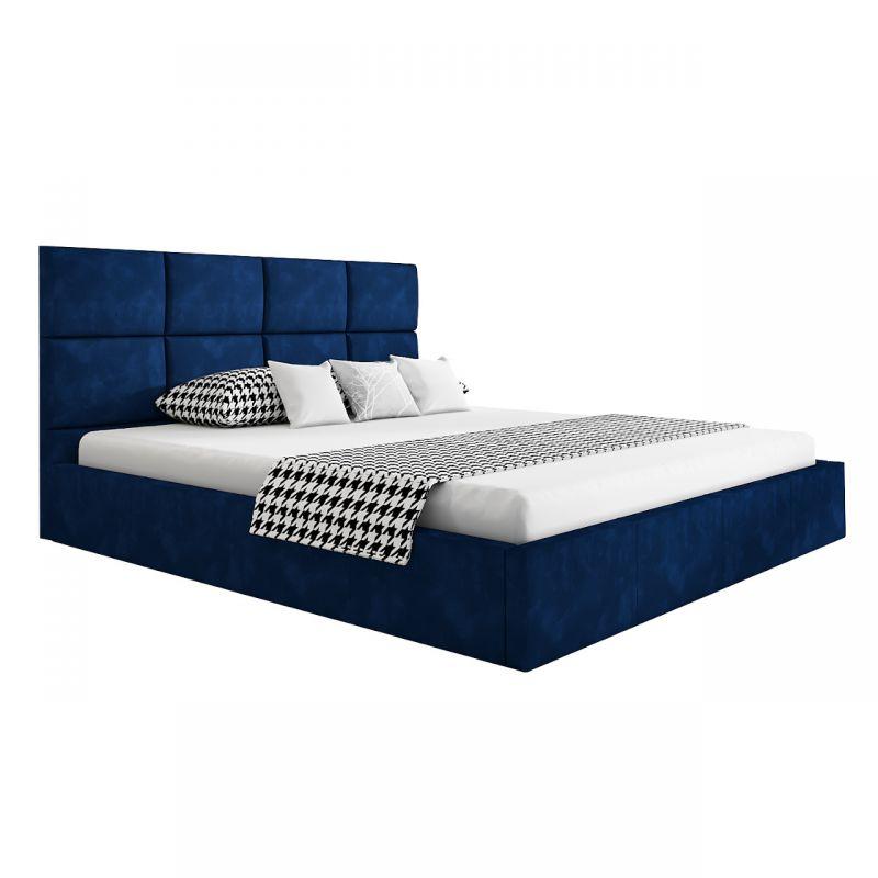 Ciemnoniebieskie łóżko małżeńskie 160/200