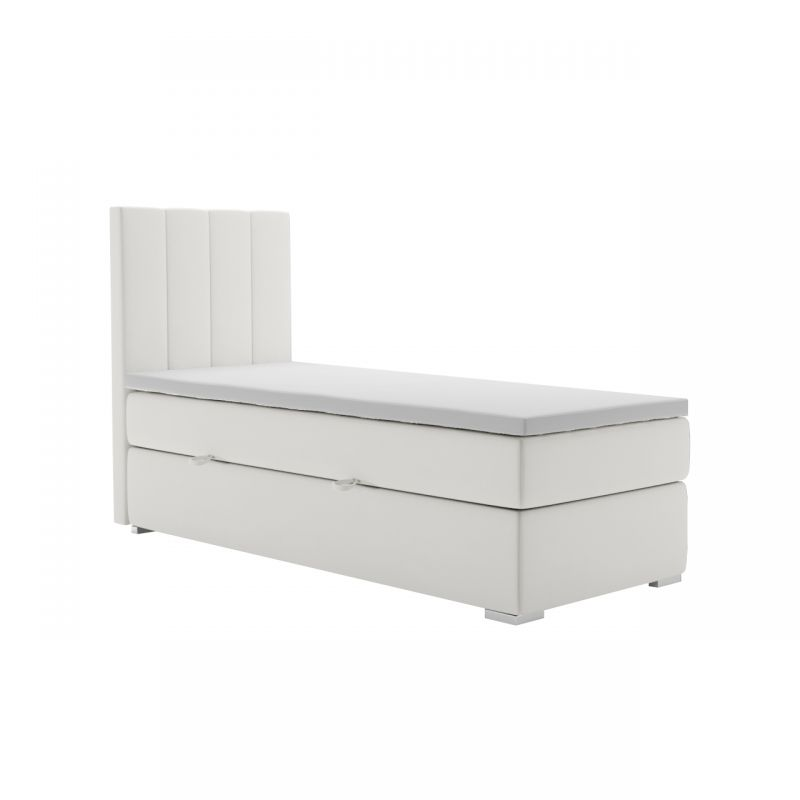Beżowe łóżko 80x200 z materacem