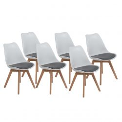 6x Białe krzesło do kuchni i/lub jadalni