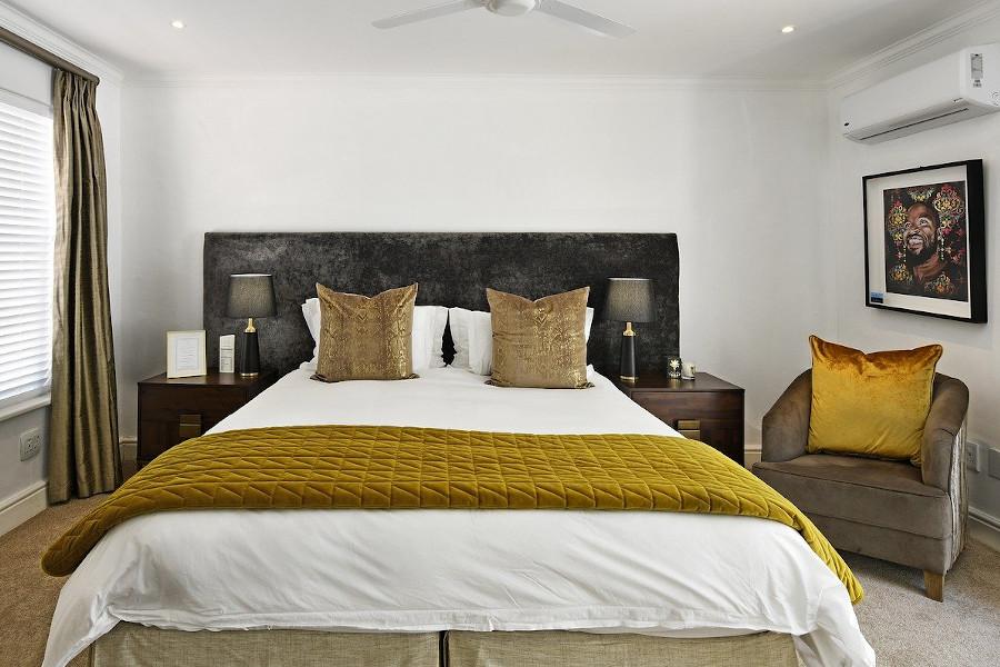 Arażacja nowoczesnej sypialni - łóżko