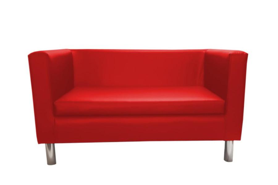 Czerowona sofa do biura
