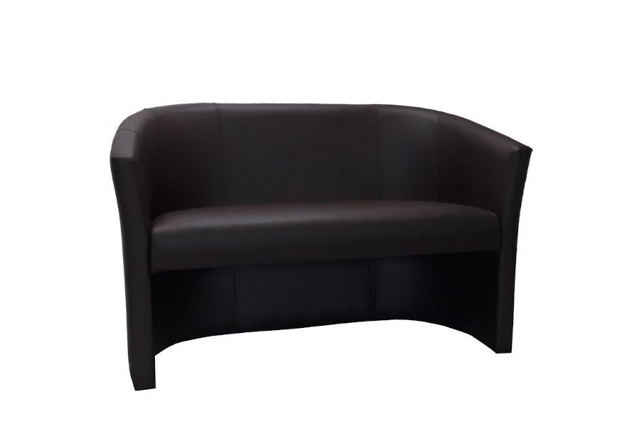 Nowoczesna kanapa na poczekalnię ekoskóra czarna