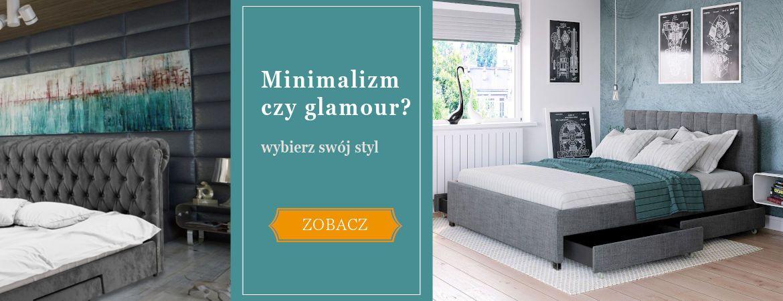 Stylowe łózka tapicerowane - pikowane glamour, minimimalizm